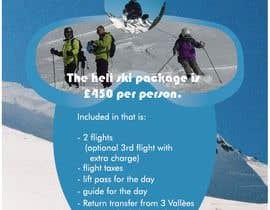 Nro 39 kilpailuun Various graphic design for a ski show booth.   Large backdrop image,   roller banners and fliers for customers and partners. käyttäjältä deesapta