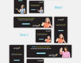 #57 for 9 banner ads with simple messaging by amin2437
