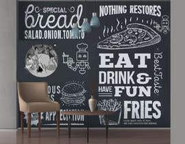 #4 para Wall design based on food evolution - tools or humans to be installed on Restaurant wall por Engineershahed
