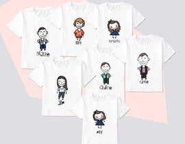 #28 untuk Family illustration/cartoon for shirt oleh aadhyasingh02