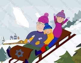 Nro 9 kilpailuun Family Holiday Card Drawing käyttäjältä AWRcol