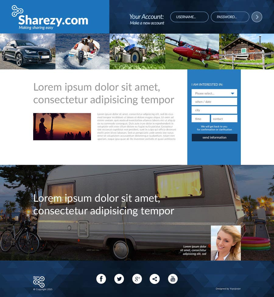 Penyertaan Peraduan #44 untuk Design a Website and Logo Mockup for a new Online Asset Sharing Service