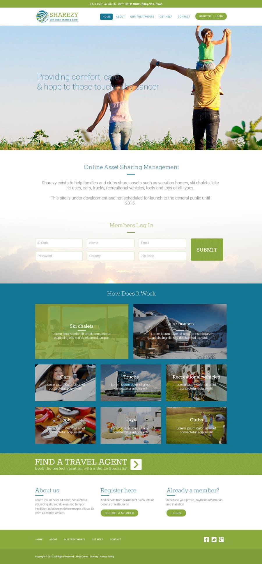 Penyertaan Peraduan #12 untuk Design a Website and Logo Mockup for a new Online Asset Sharing Service