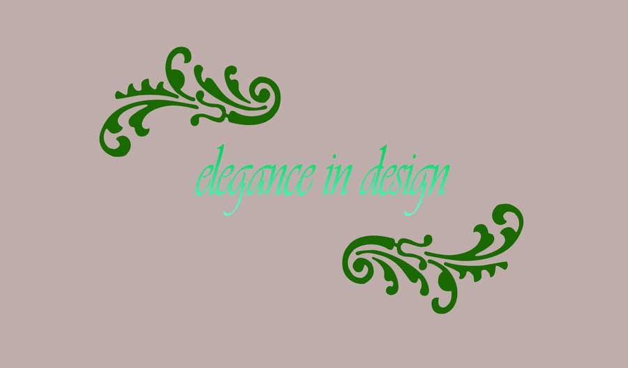 Proposition n°109 du concours Design a Logo for Elegance in Design, LLC