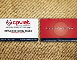 #97 para Design some Business Cards for CPVIET por sankalp