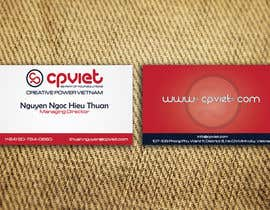 #120 para Design some Business Cards for CPVIET por sankalp