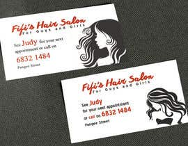 #43 untuk Design some Business Cards for hair dressing salon oleh AlexTV
