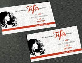 #46 untuk Design some Business Cards for hair dressing salon oleh AlexTV