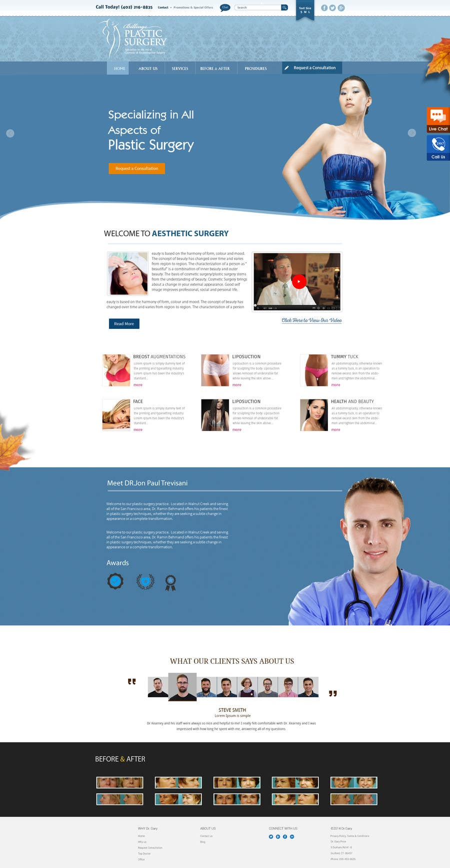 Contest Entry #                                        35                                      for                                         Design a Website Mockup for aesthetic surgery