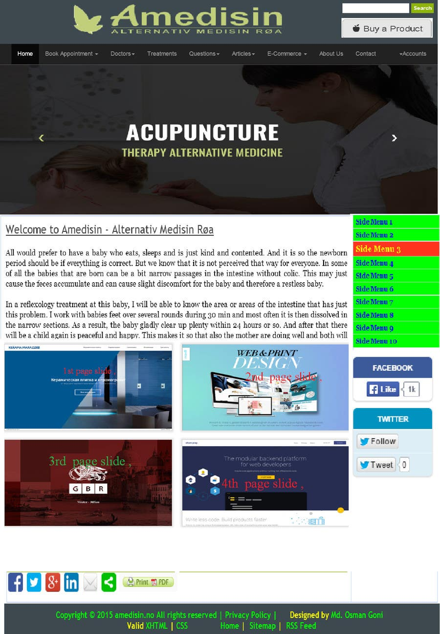 Contest Entry #                                        14                                      for                                         Design a Website Mockup for aesthetic surgery