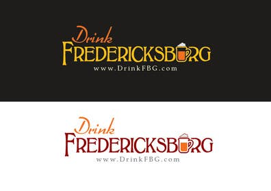#93 untuk Design a Logo for Drink Fredericksburg, an entertainment website oleh paxslg