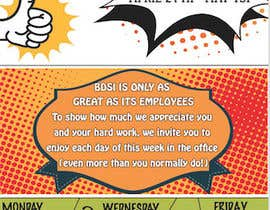 #6 for Design a Flyer for company employee appreciation week af brijeshj21