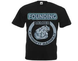 #28 untuk Ontwerp een T-shirt for Crossfit Hasselt founding members oleh dilukachinda