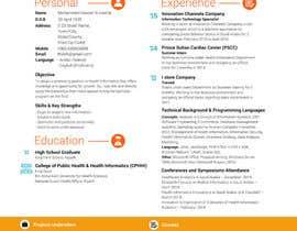 Nro 8 kilpailuun design Infographic CV käyttäjältä technowizard17