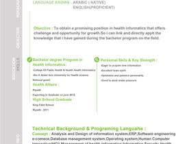 Nro 10 kilpailuun design Infographic CV käyttäjältä bha4
