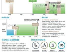 Nro 13 kilpailuun design Infographic CV käyttäjältä CDrury