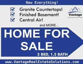 #9 para Design a For Sale sign por dannyblue1