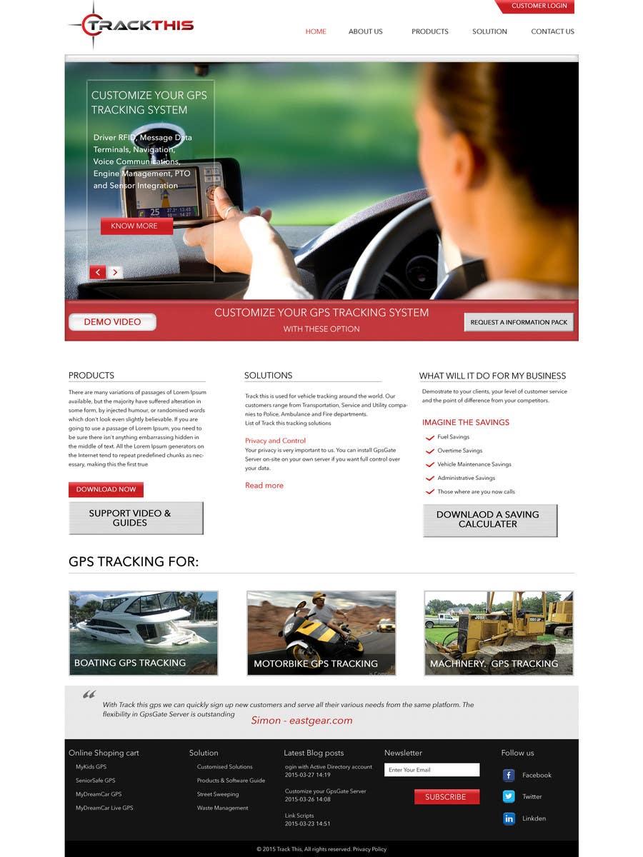 Kilpailutyö #1 kilpailussa Build a Website for TrackTHIS -- 2