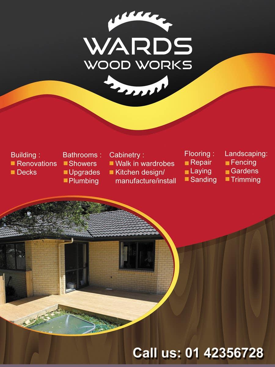 Inscrição nº 14 do Concurso para Design a Flyer for Woodwork/ Handyman