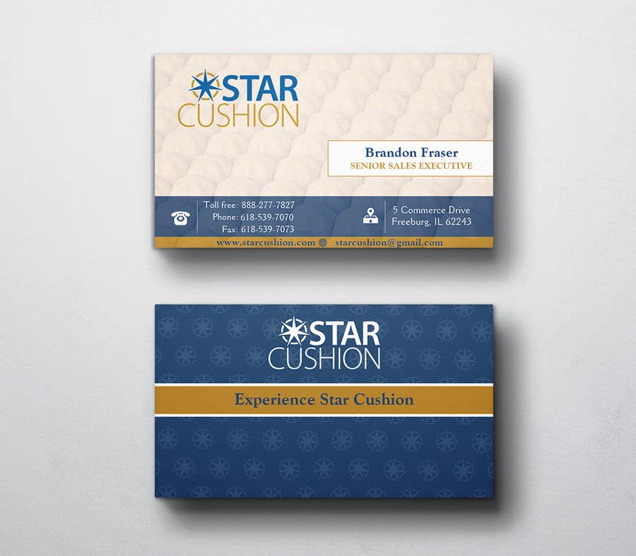 Penyertaan Peraduan #52 untuk Design some Business Cards for Star Cushion