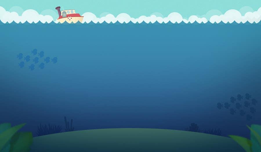 Kilpailutyö #29 kilpailussa under sea background
