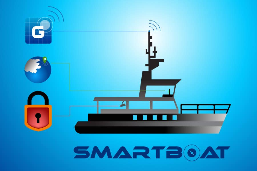 Конкурсная заявка №38 для Illustration Design for SmartBoat