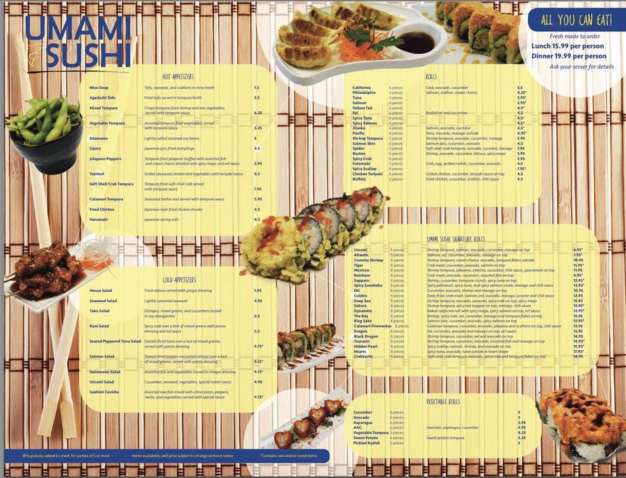 Contest Entry #                                        22                                      for                                         Restaurant Menu Design