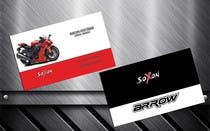 Graphic Design Konkurrenceindlæg #7 for DESIGN Of a Business Card for an Motorcycle helmet distribution company