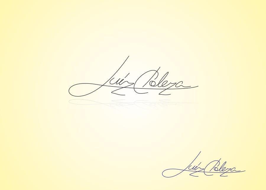 Kilpailutyö #158 kilpailussa Personal signature