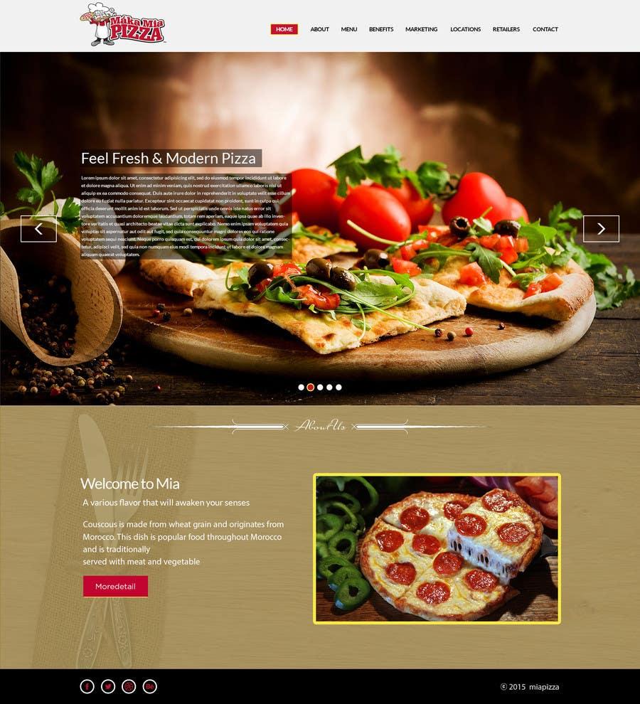 Inscrição nº 4 do Concurso para Design a Website Mockup for Maka Mia Pizza Franchise