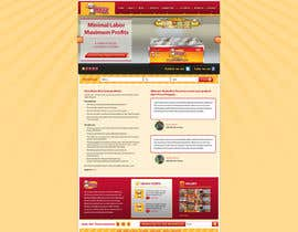 #7 para Design a Website Mockup for Maka Mia Pizza Franchise por descomgroup