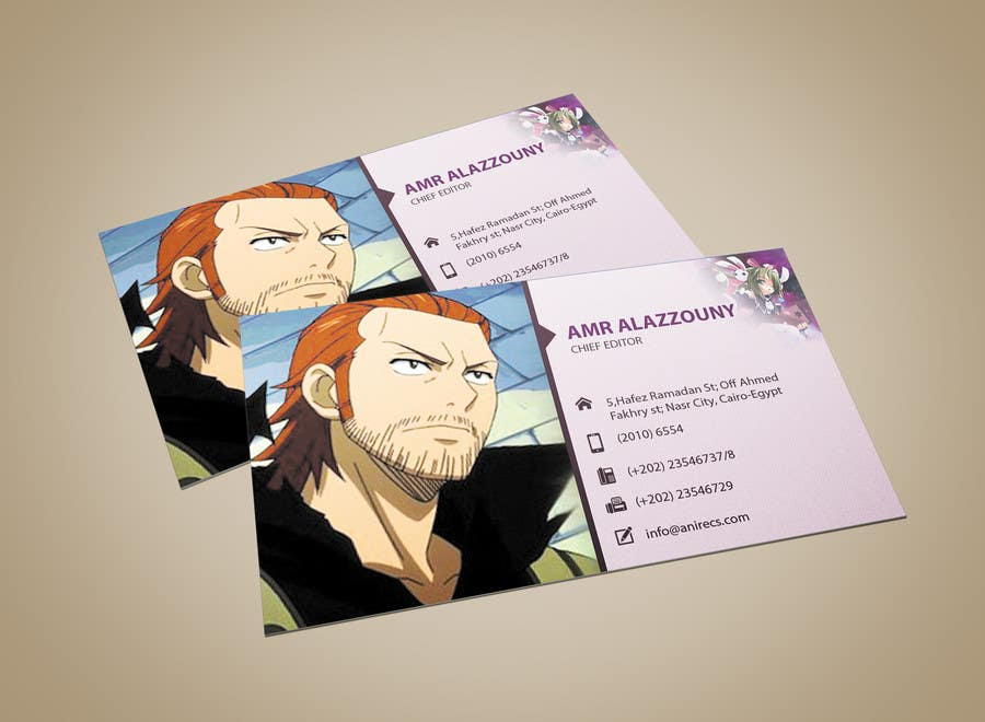 Contest Entry #                                        15                                      for                                         Design some Business Cards for anime site