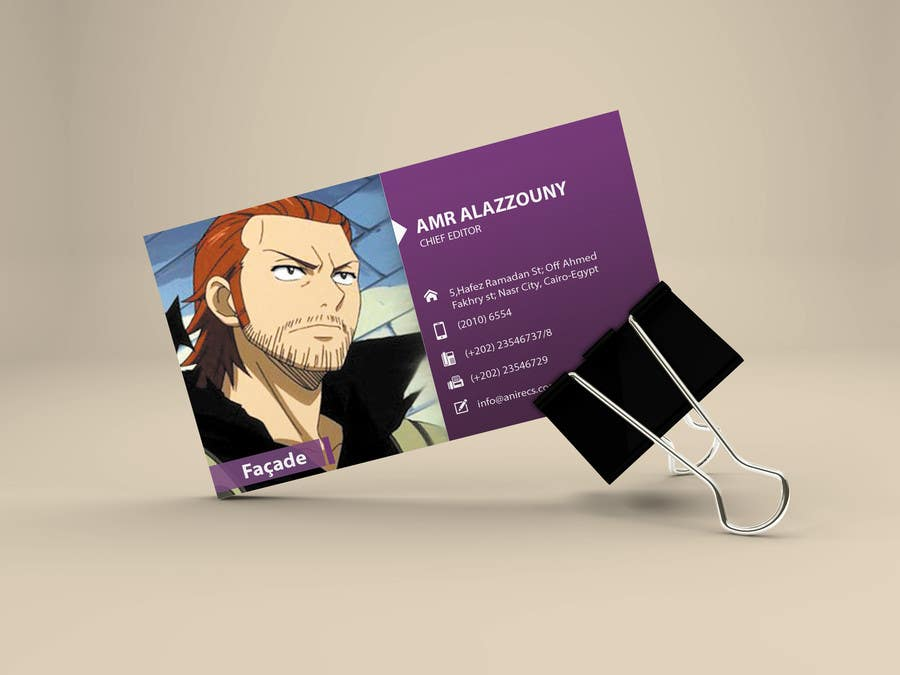 Contest Entry #                                        21                                      for                                         Design some Business Cards for anime site