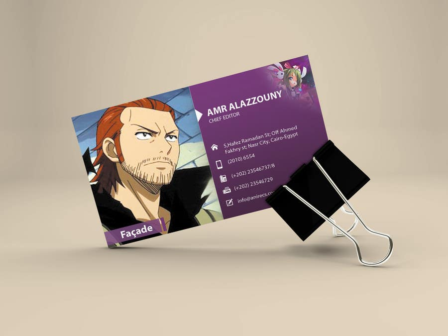 Contest Entry #                                        22                                      for                                         Design some Business Cards for anime site