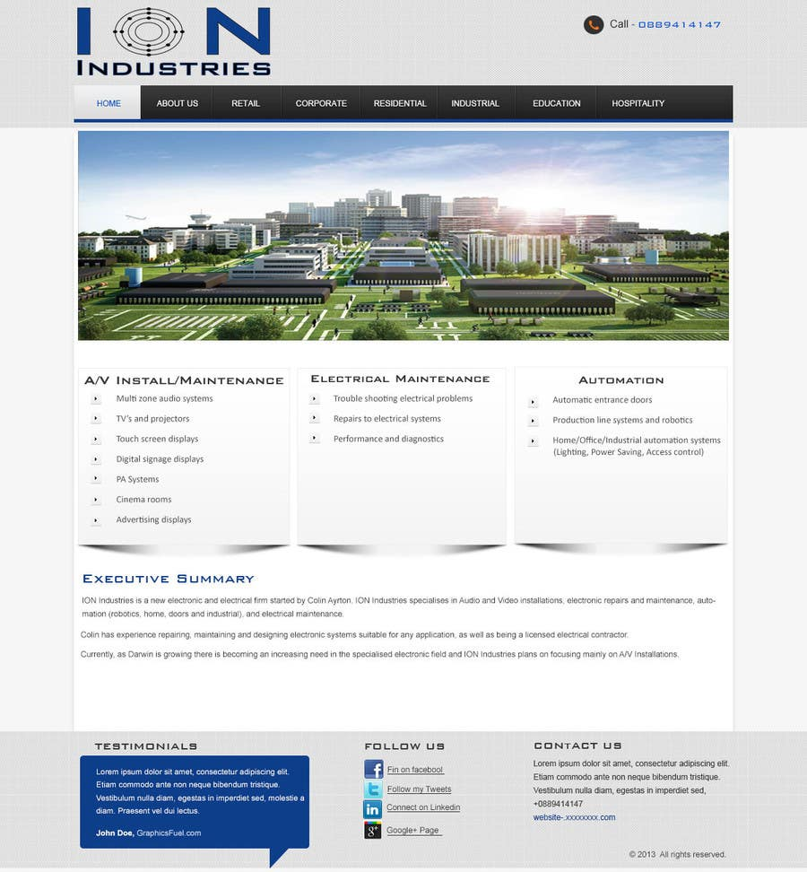 Entry #3 by nittilegupta for Build a Website for new