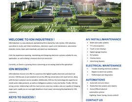 #7 untuk Build a Website for new electrical/electronic contractor oleh gravitygraphics7
