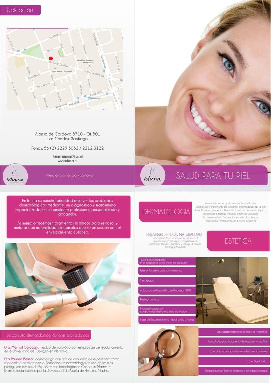 Contest Entry #3 for Diseño folleto Diptico Consulta Medica de Dermatología