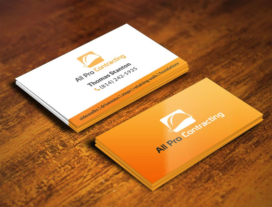 Konkurrenceindlæg #                                        33                                      for                                         Design some Business Cards for All Pro Contracting