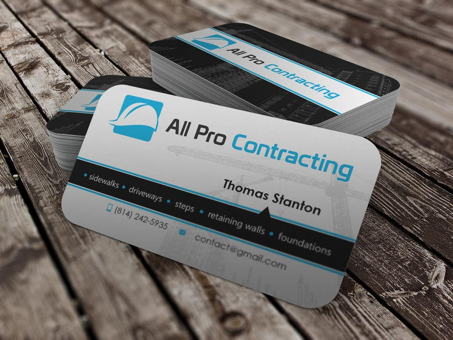 Konkurrenceindlæg #                                        41                                      for                                         Design some Business Cards for All Pro Contracting