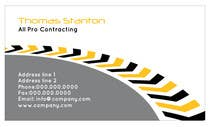 Graphic Design Konkurrenceindlæg #1 for Design some Business Cards for All Pro Contracting