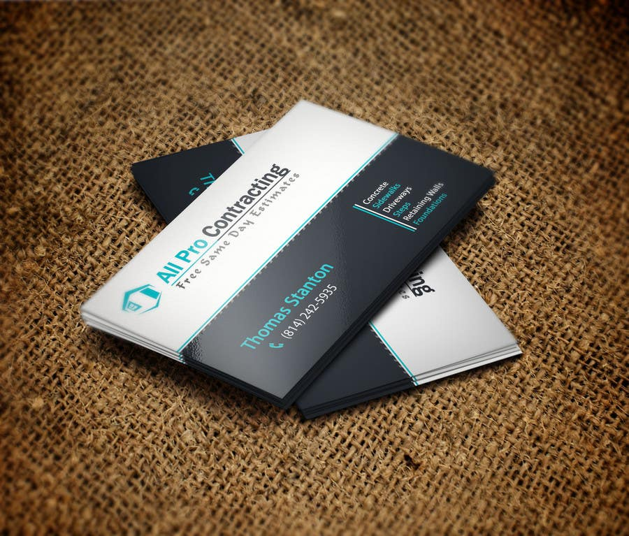 Konkurrenceindlæg #                                        32                                      for                                         Design some Business Cards for All Pro Contracting