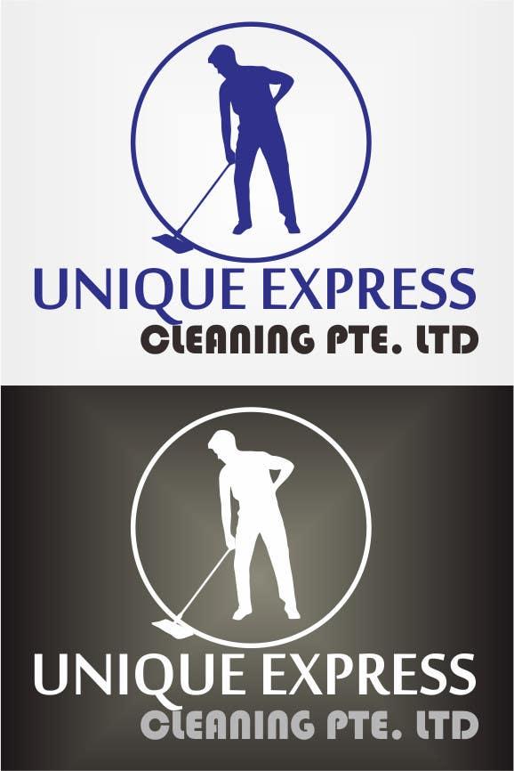 Penyertaan Peraduan #17 untuk Design a Logo for UNIQUE EXPRESS CLEANING PTE. LTD.,