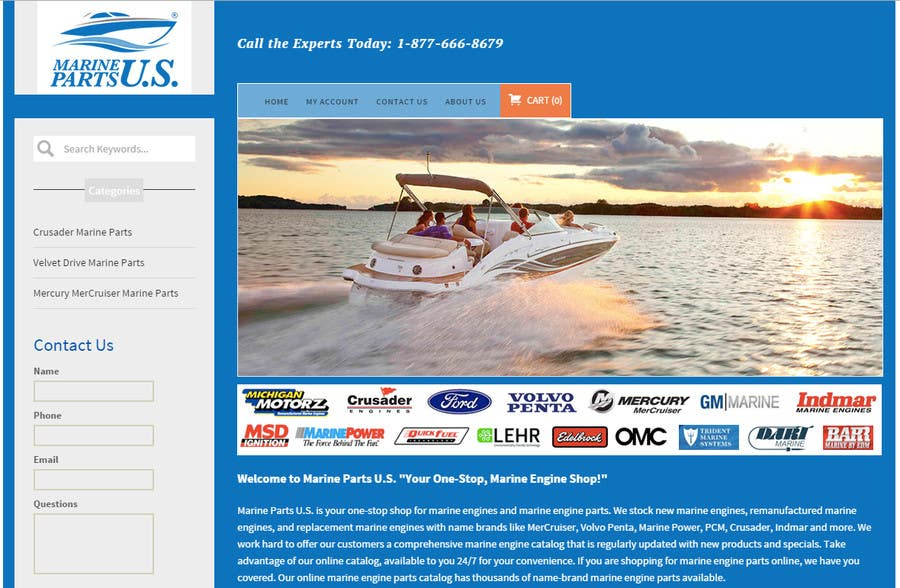Contest Entry #                                        2                                      for                                         Design a Website Mockup for Marine Parts U.S.