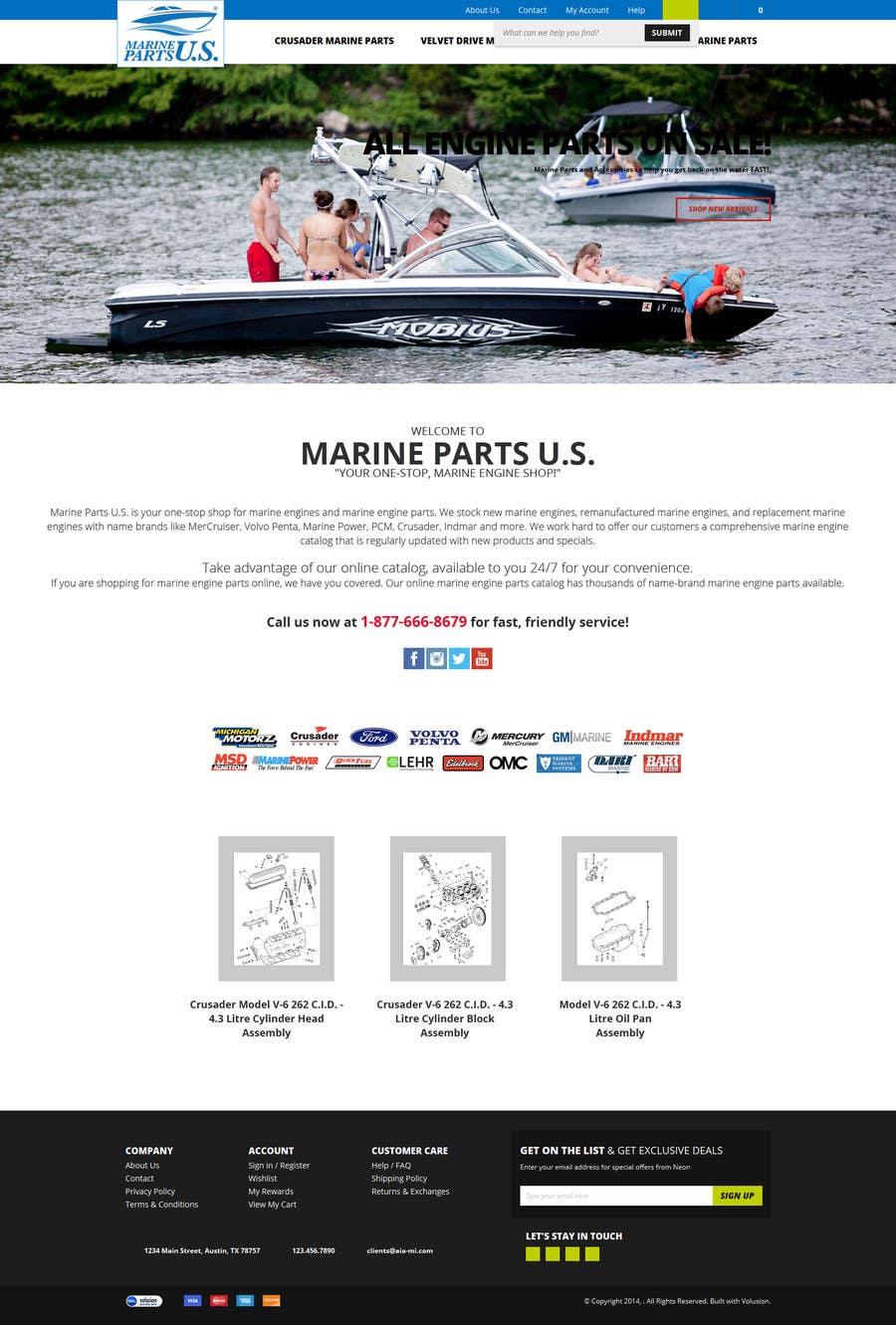 Contest Entry #                                        11                                      for                                         Design a Website Mockup for Marine Parts U.S.