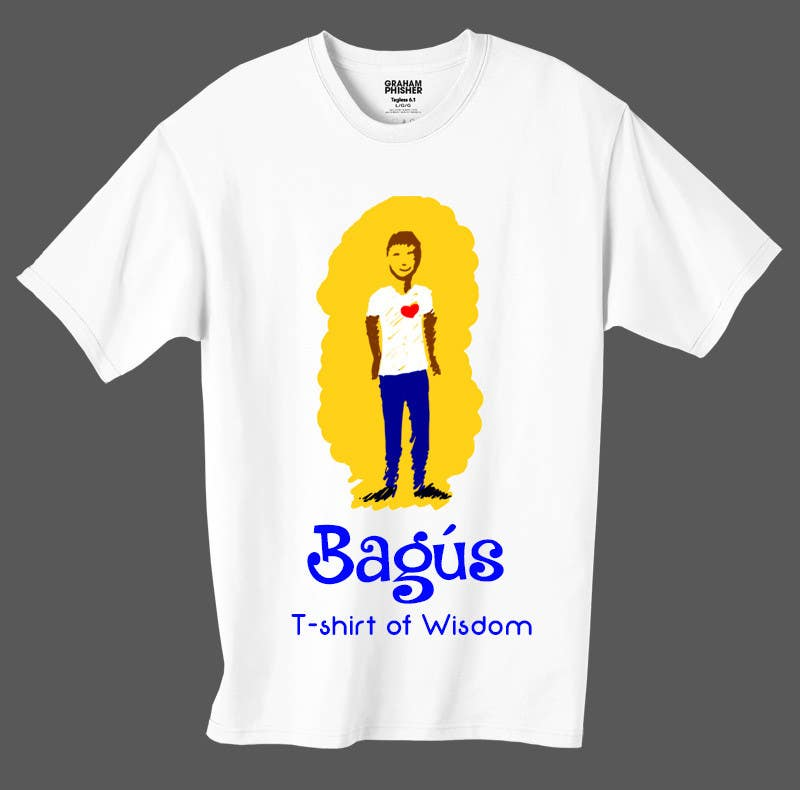 Proposition n°                                        17                                      du concours                                         Illustrate and add in a nice font Bagús T-shirt of Wisdom