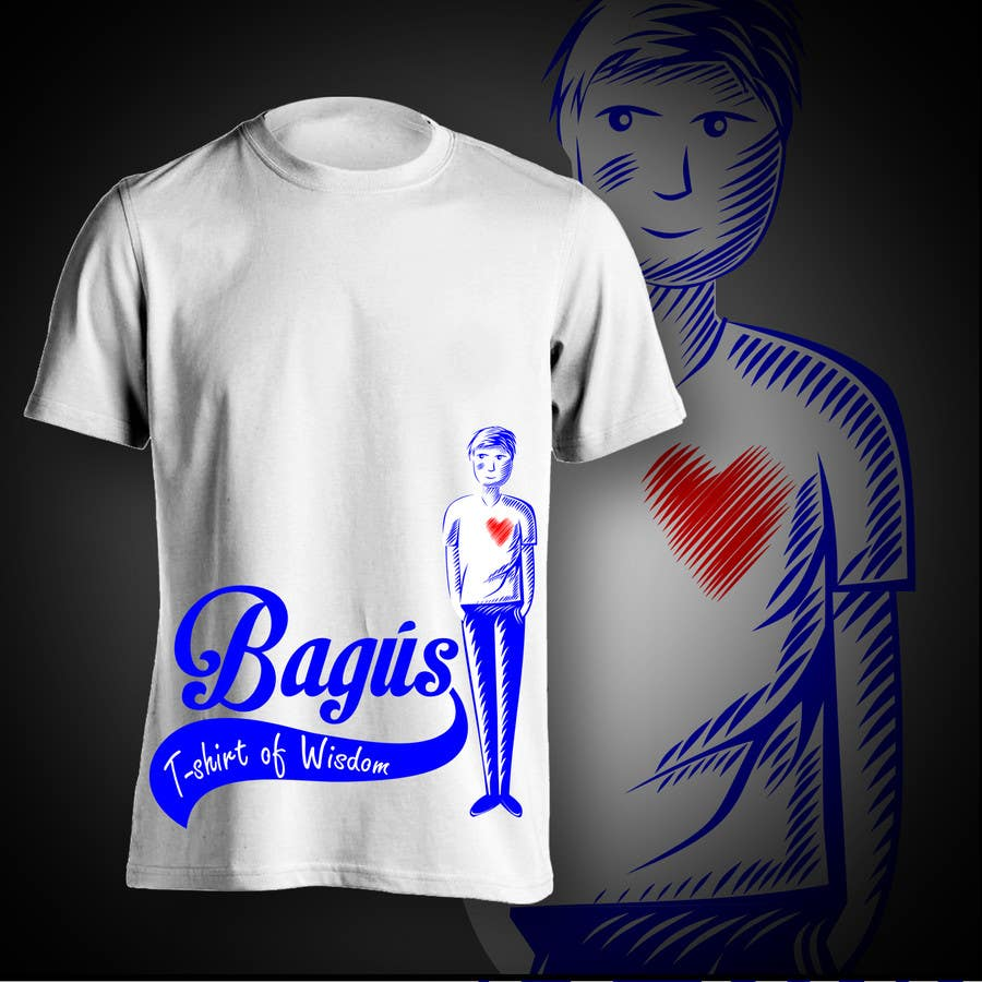 Proposition n°                                        31                                      du concours                                         Illustrate and add in a nice font Bagús T-shirt of Wisdom