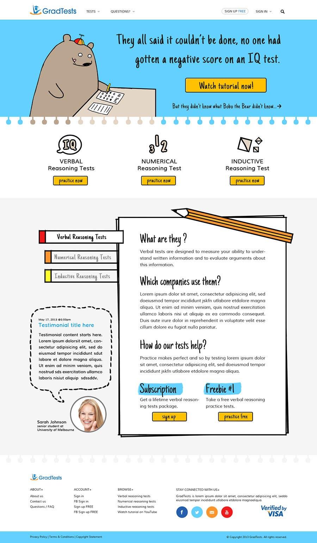 Inscrição nº                                         37                                      do Concurso para                                         Design a Website Mockup for Practice IQ Test Business