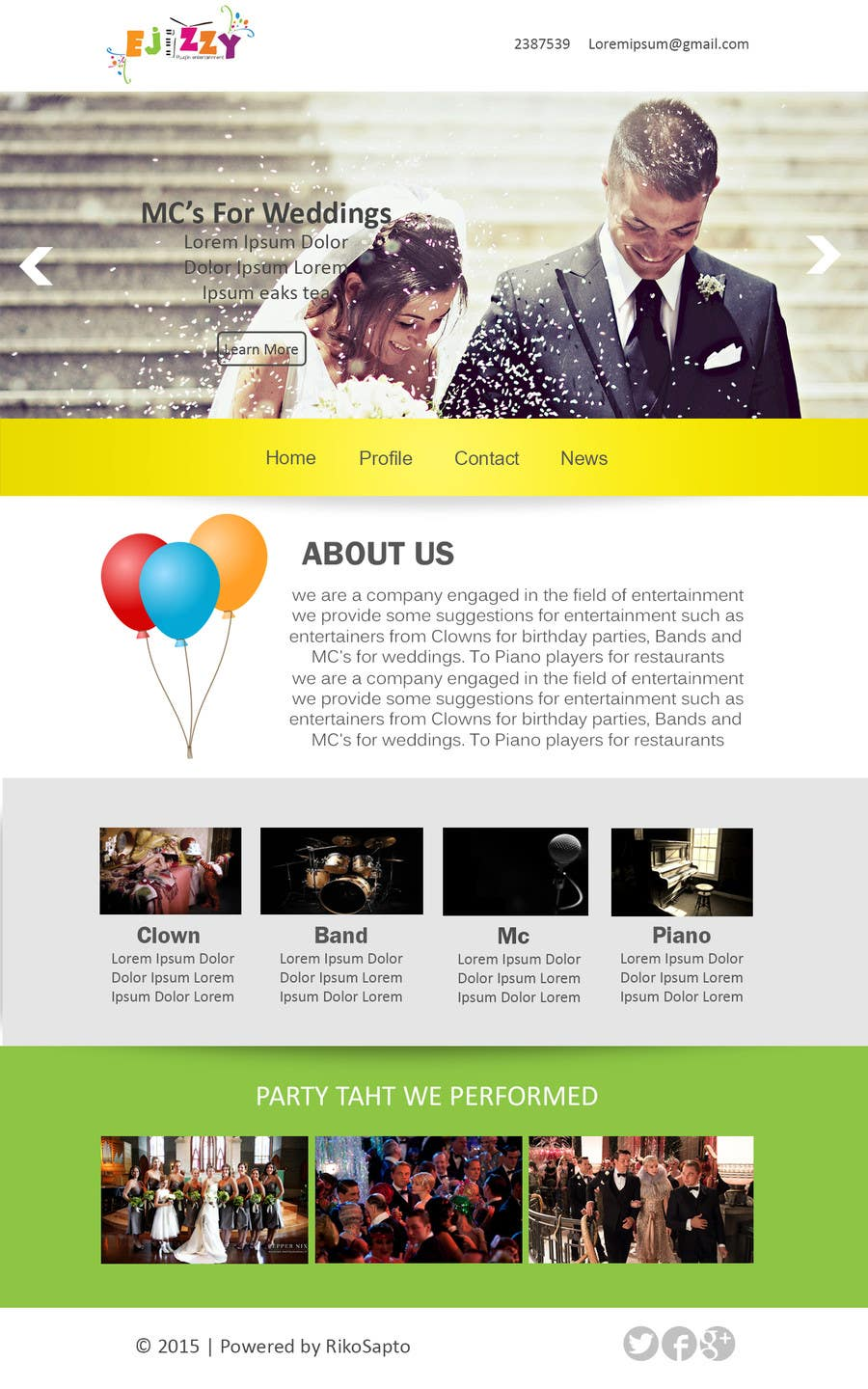 Konkurrenceindlæg #                                        17                                      for                                         Design a Website Mockup for Entertainment Industry