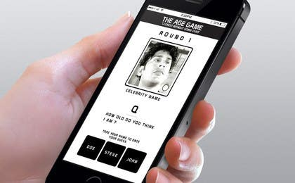 #9 untuk Design an App Mockup for Age Game oleh jarasaleem