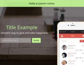 #3 for App Landing One-Page Design af jinsonjohny